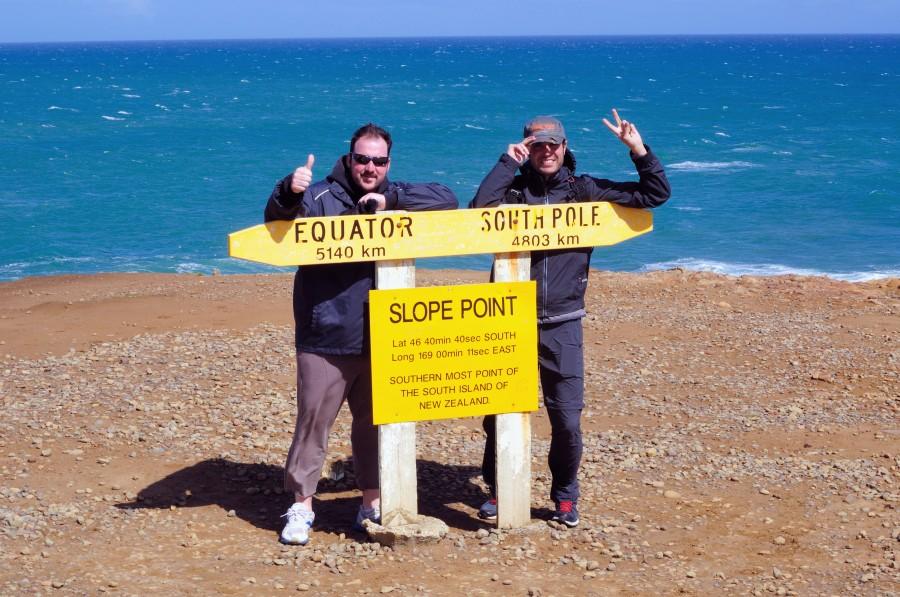 La famosa señal de Slope Point